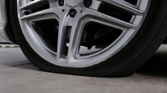 Tire Needing Puncture Sealant