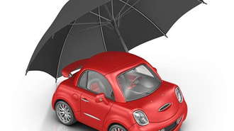 city car and umbrella