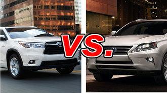 Toyota Highlander Vs Lexus RX 350 CarsDirect
