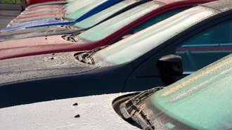 Dealer Lot of New Cars