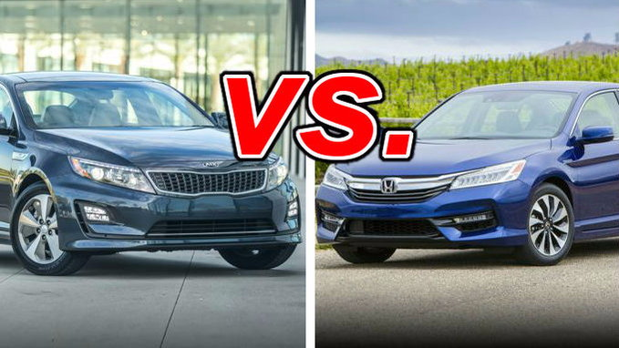 Kia optima hybrid vs honda accord hybrid carsdirect for Kia optima vs honda civic