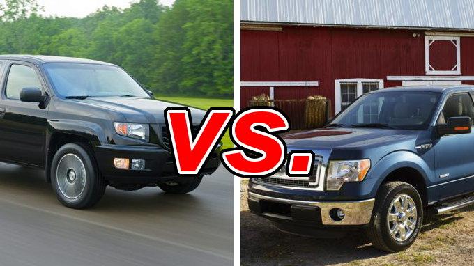 honda ridgeline vs ford f 150 carsdirect