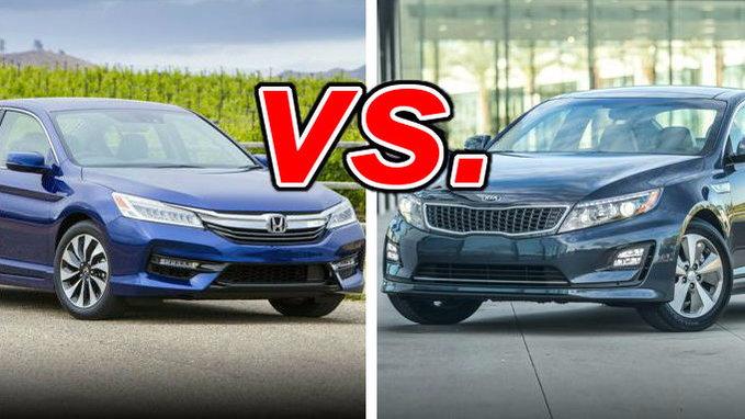 Honda accord hybrid vs kia optima hybrid carsdirect for Kia optima vs honda civic