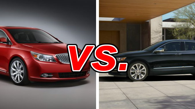 buick lacrosse vs chevrolet impala carsdirect. Black Bedroom Furniture Sets. Home Design Ideas