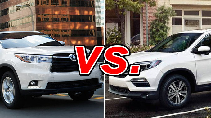 Toyota highlander vs honda pilot carsdirect for Honda crv vs toyota highlander