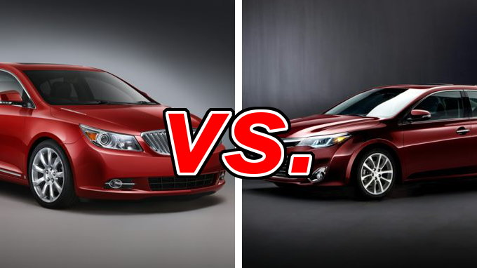 buick lacrosse vs toyota avalon carsdirect. Black Bedroom Furniture Sets. Home Design Ideas