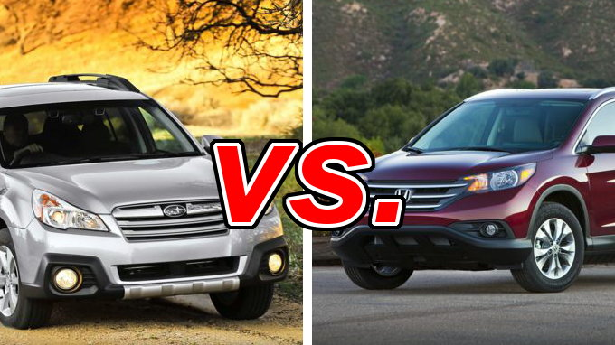 subaru outback vs honda cr v carsdirect