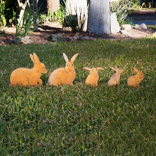 Bunny lawn ornaments