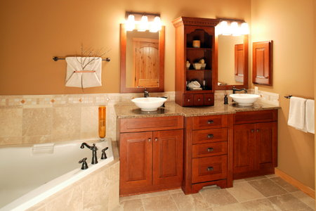 how to install a bathroom corner cabinet