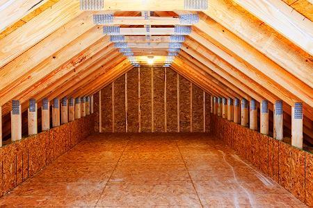 attic storage ideas wall shelving