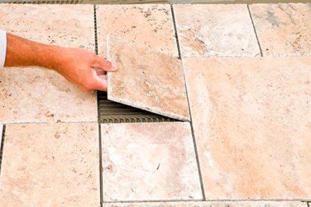 How to do a tile floor