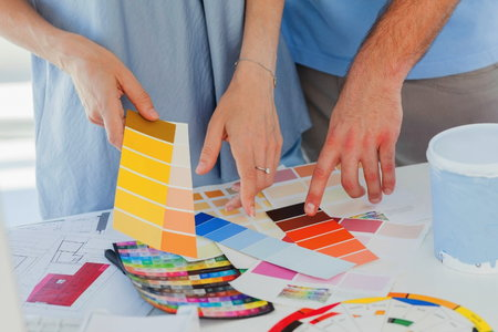 Choosing ceiling paint color combinations for How to pick interior paint colors