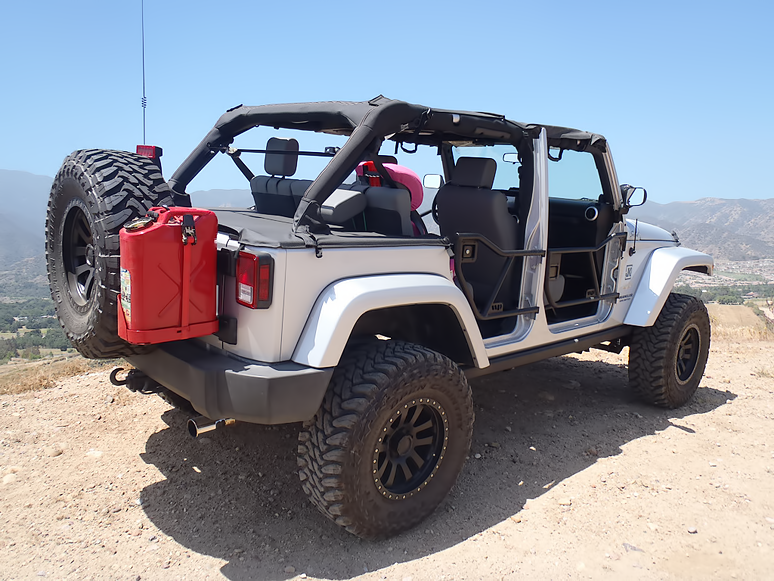 jeep wrangler jk 2007 present how to make your own jerry can mount jk forum. Black Bedroom Furniture Sets. Home Design Ideas