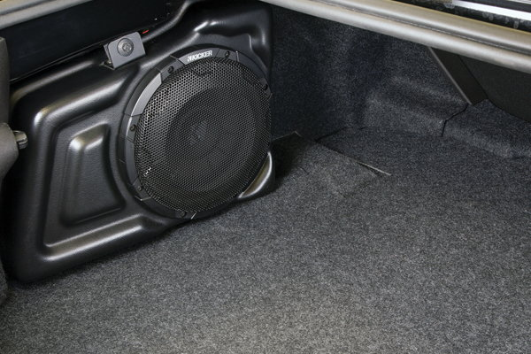 Amp Installed Into Small Car