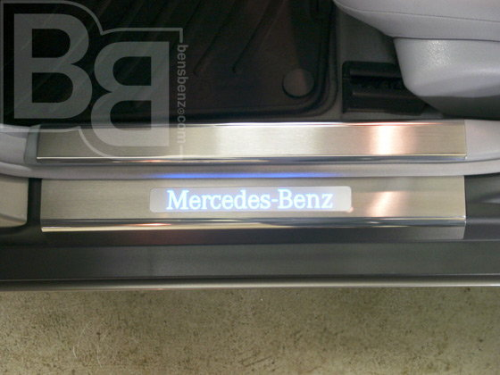 Mercedes benz e class w212 how to install illuminating for Mercedes benz illuminated door sills