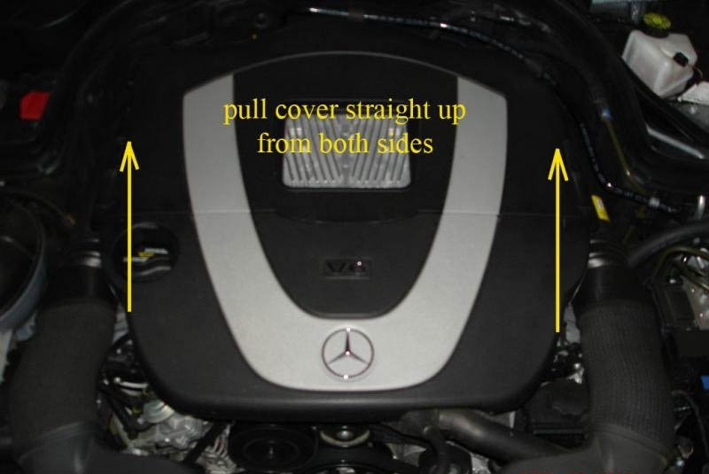 Mercedes benz w204 c class how to change oil mbworld for Mercedes benz oil change coupon