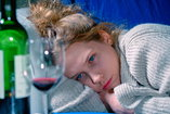 Woman struggles with alcohol dependency