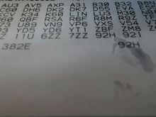 My RPO codes.