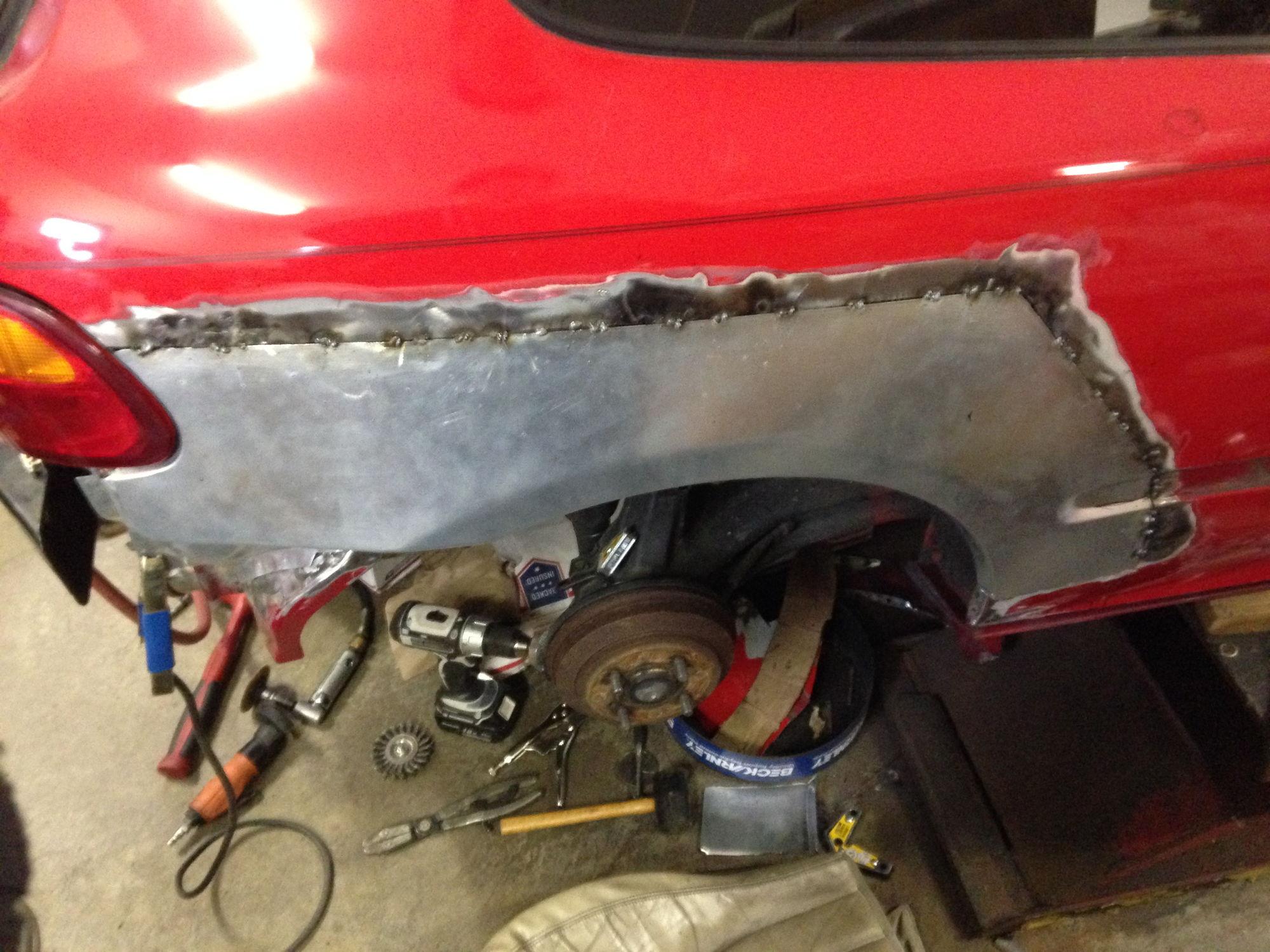 Quarter Panel Rust Repair EH2 Issues - Honda-Tech