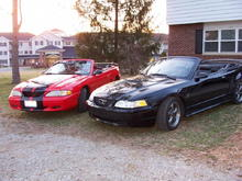 Tim's stang and dad's stang (sold)