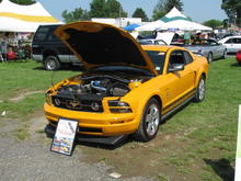 My Grabber orange mustang