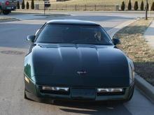 1990 C-4 Corvette Targa Top L-98 5.7 Litre (350 C.I.) Polo Green / Saddle Interior
