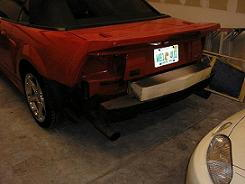 Rear bumper and taillights getting painted and smoked out