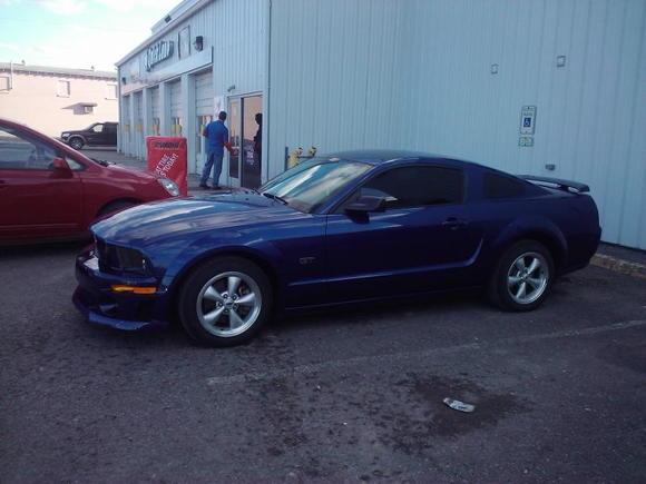 Side shot of new bumper.