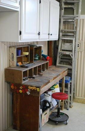 Pop Pop's workbench