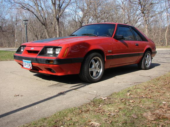 Just arrived! 86 GT red on red. Fresh 5.0 gear drive, 70mm Holley tb, BBK intake and headers. T5 with 3.73 gears. Mallory ignition and coils. This Dog Can Hunt!