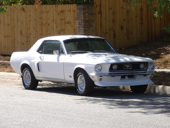 "Our 68' coupe in ""fresh white high-gloss"""
