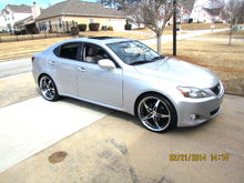 Lexus IS 250 manual rwd - 20 MRR gt5