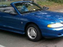 Garage - Blue Stang