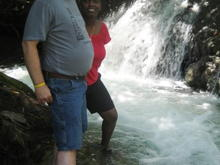 YS Falls Jamaica - fat man photo