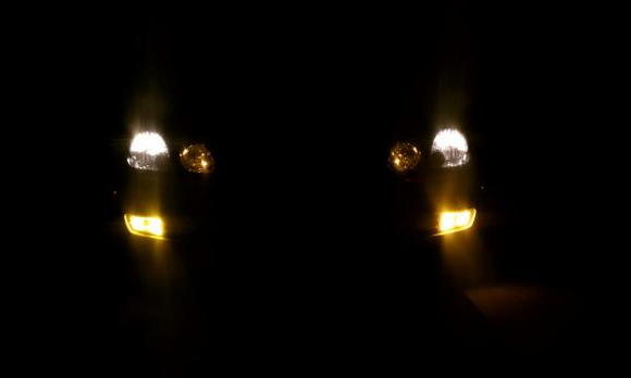 Front headlight view