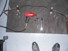 Just a picture of the rear sway bar removed and the tools I used.