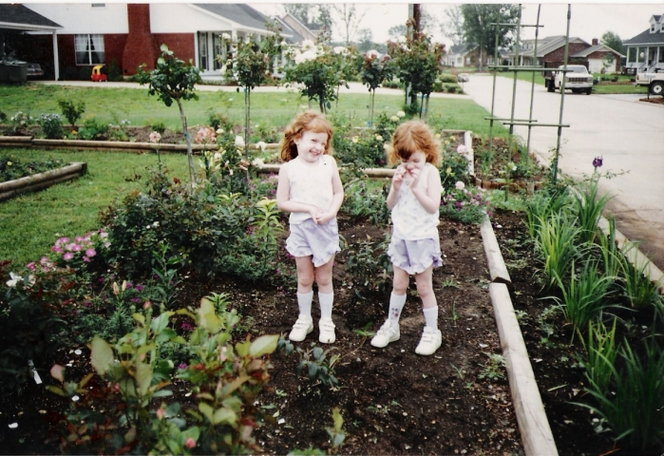 Its like I made the garden just as a background for the twins.