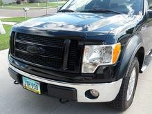 PT Grille, Plasti-dip grille insert, Custom Black Ford Logo