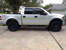 Current look of 2006 FX4 with  plasti dipped wheels and nerf bars