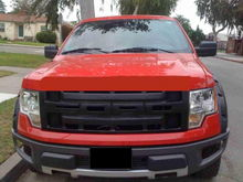 First grille after the chrome. Available with stock XLT hood.