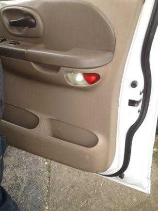 Leds on door