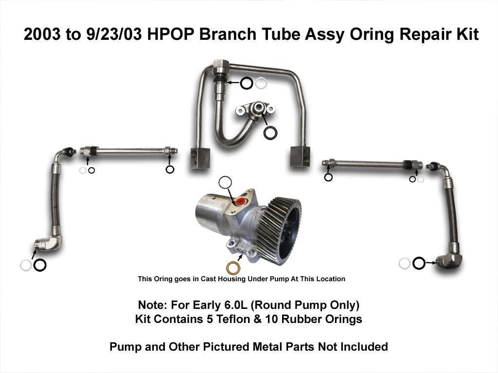 High Pressure Oil Pump 7 3 Diesel Diagram 6 0 Powerstroke Low 1996 Ford Liter Engine Replace O Ring In Branch Tube On 2004