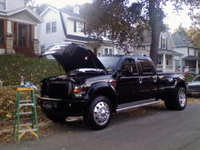 1010081750  My 2000 F350 with a 2008 front end,,, A 7.3 powerstroke