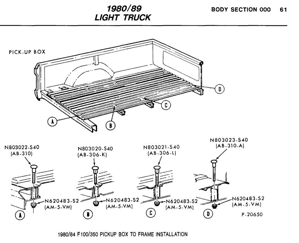 Bed Bolts Ford Truck Enthusiasts Forums