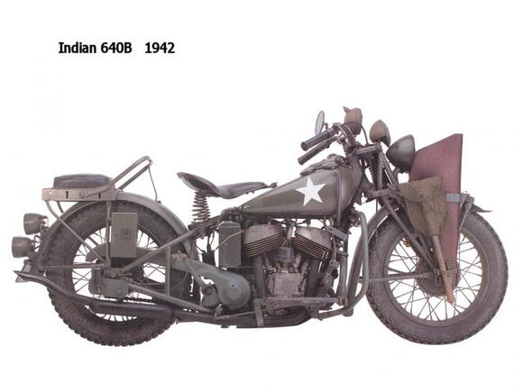 Indian 640B 1942 Very cool non-HD ride
