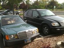 My 2003 ML 500, and 1984 190E
