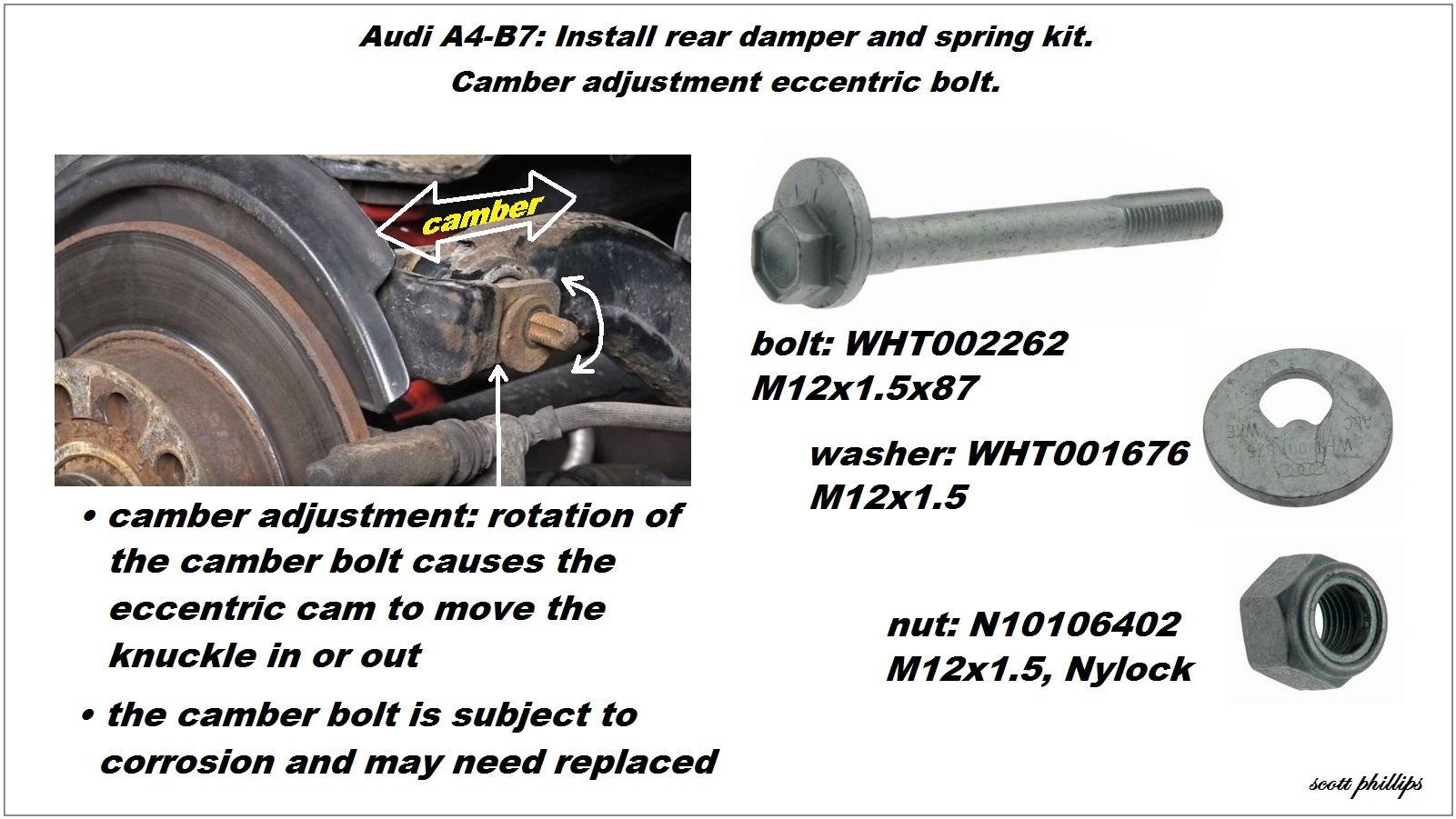 audi a4 b7 shock reviews and how to install shock absorber audiworld rh audiworld com 1995 Audi A4 2002 Audi A4