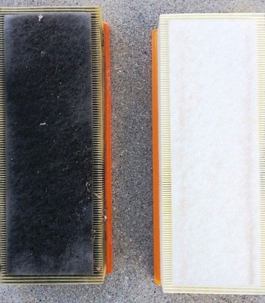 how to clean air intake filter