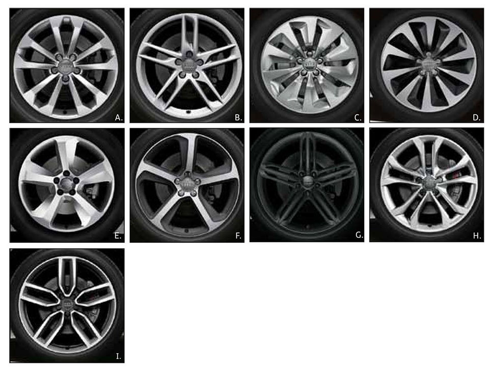 All of these were factory options on the Audi Q5 in 2014