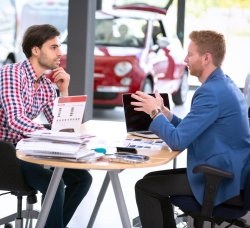 buying a car while self employed